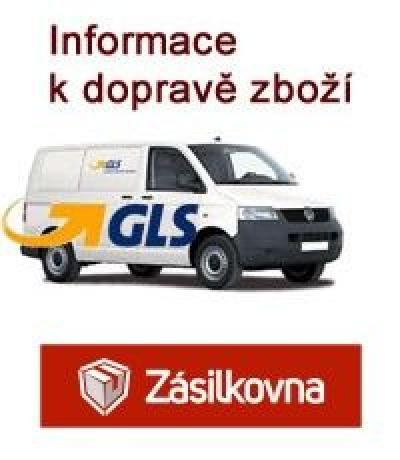 Dopravné prostřednictvím společnosti GLS a Zásilkovna